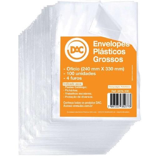 envelope plastico grosso 4 furos