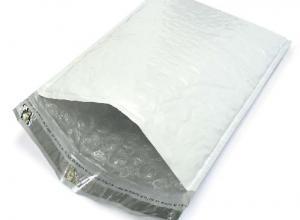 envelope com plastico bolha dentro