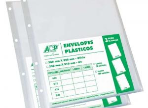 envelope plastico 4 furos