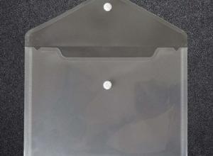 envelope plastico com botao