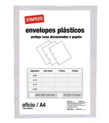 saco plastico oficio 4 furos